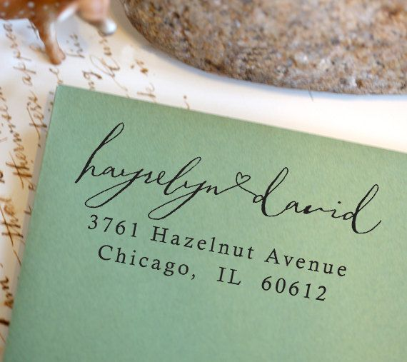 Calligraphy Self Inking Stamp  Address Stamp  wedding by foryoo, $29.95