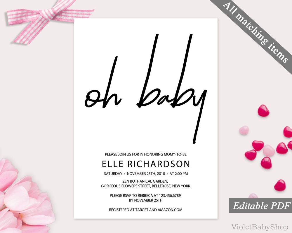 baby shower invitations templates editable