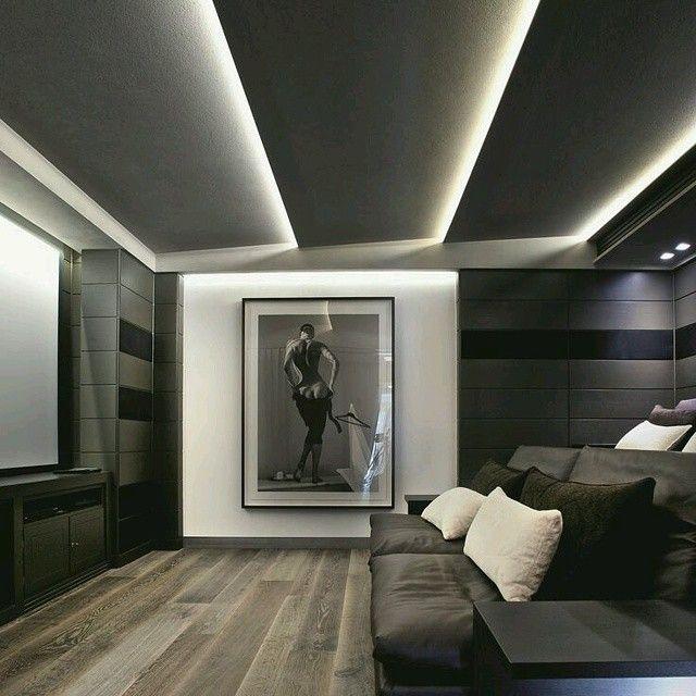 Moderno dise o techos inclinados resaltados con for Plafones techo modernos