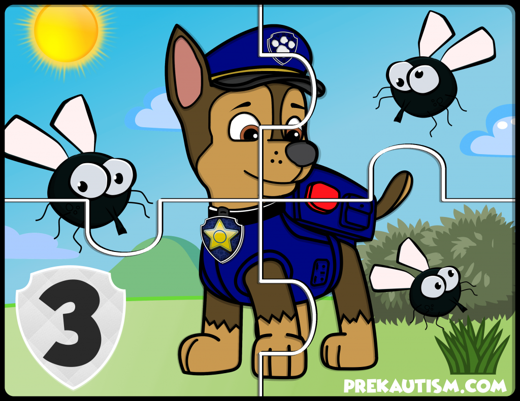 Free Paw Patrol Counting Jigsaw Puzzle