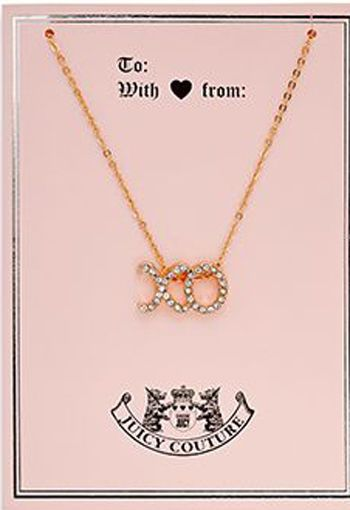 Juicy Couture Greeting Card with Rose Gold Tone XO Charm #JuicyCouture