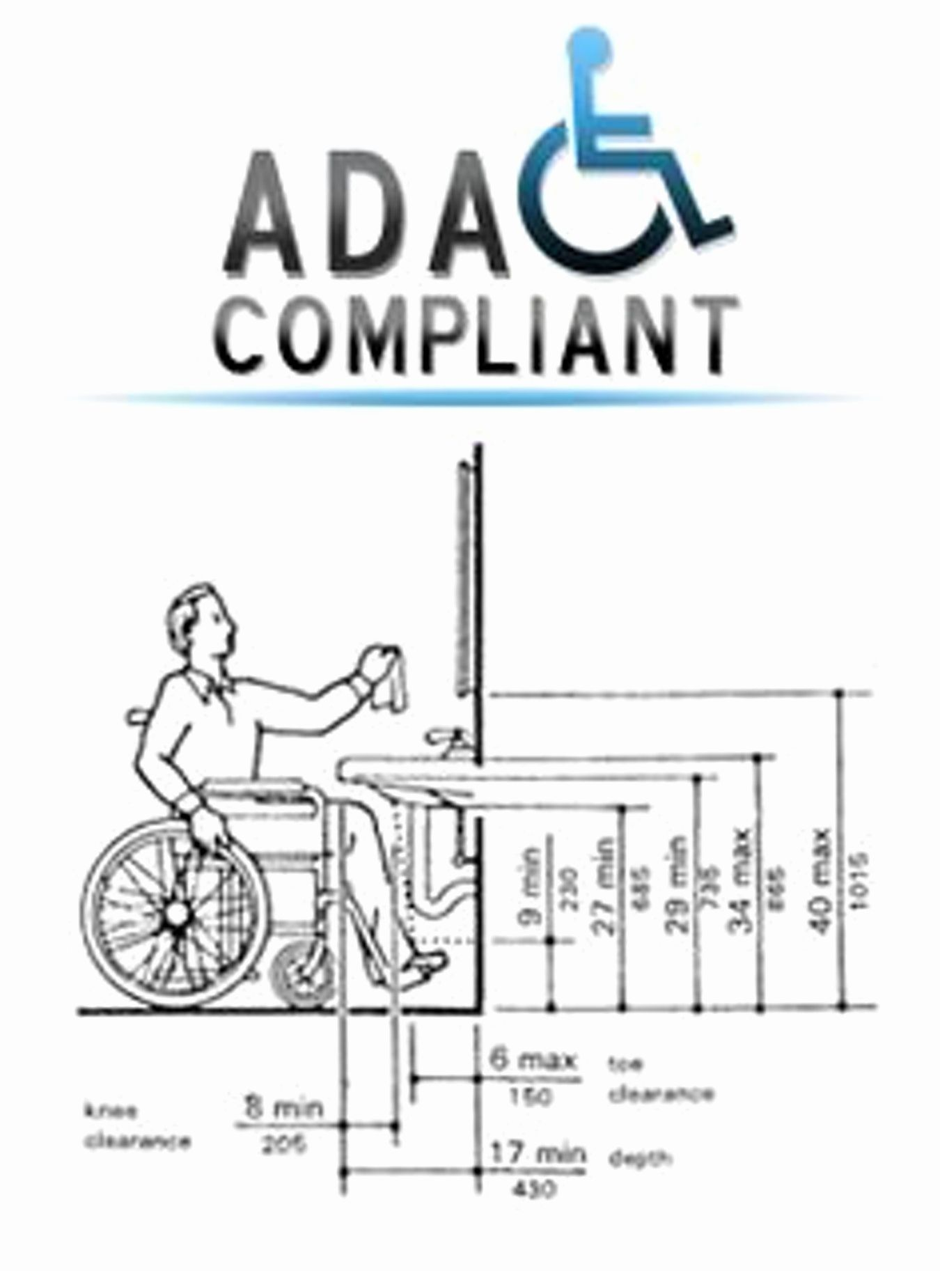 Ada Compliant Sinks Unique Ada Bathroom Vanity Requirements