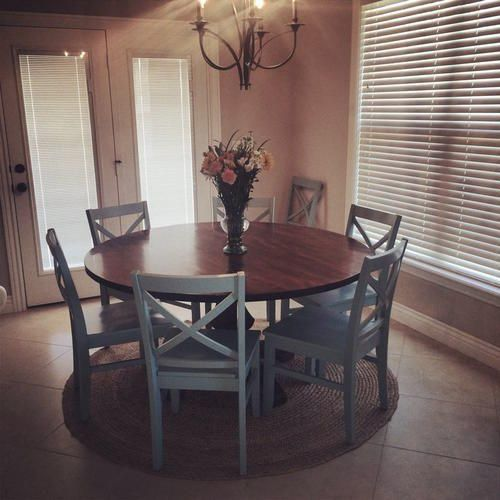 Round Farmhouse Table House Dining Table Dining Room