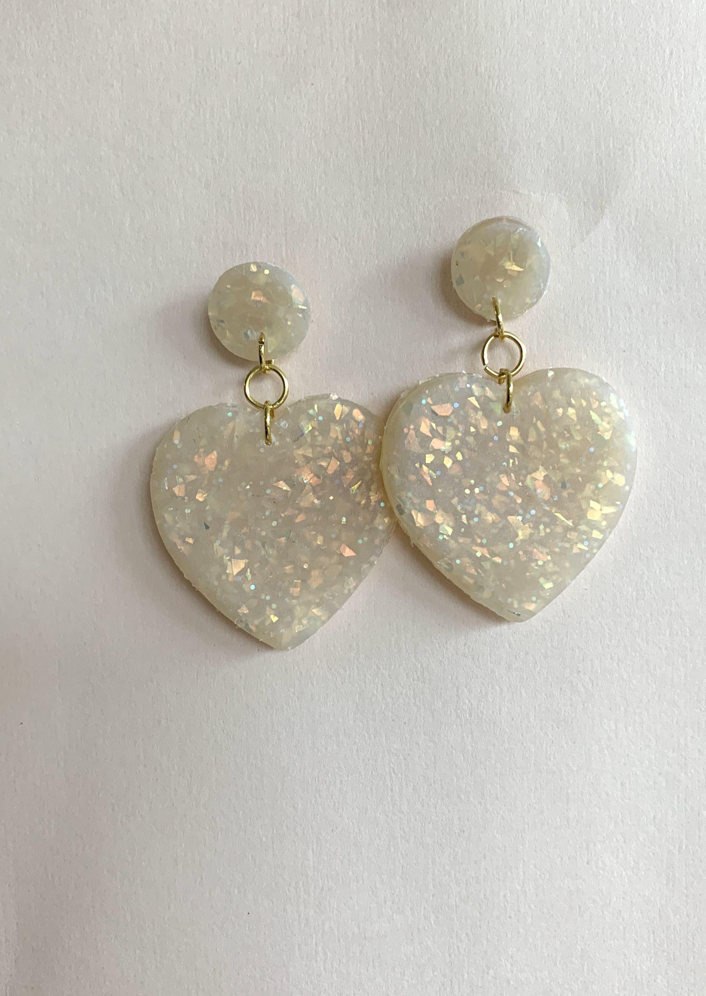 Elegant Nude Resin Earrings