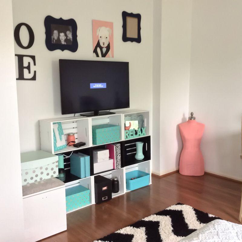 Bedroom Makeover Updates Wooden Diy Diy Wooden Crate Diy