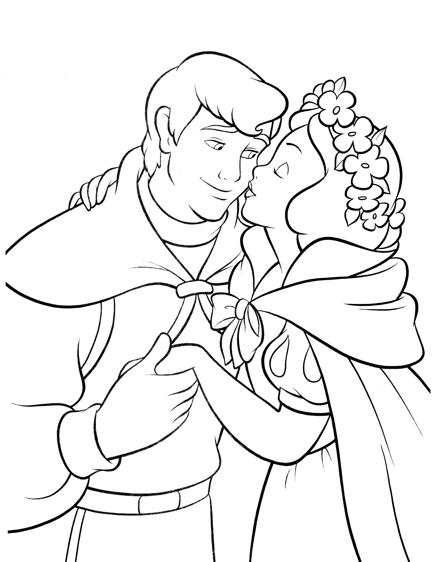 Snow White Coloring Page Disney Coloring Pages Pinterest Snow