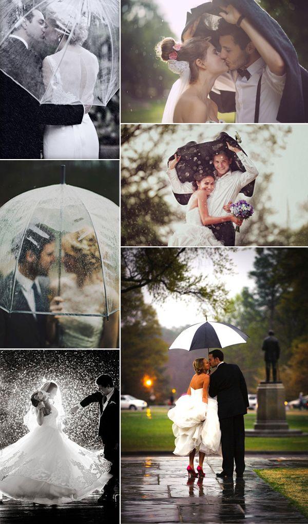 """#tipvandeweek Het mooie weer is misschien op, maar dat betekent niet dat je geen mooie foto's kunt maken op je trouwdag! """"Regen op je trouwdag is een zegen"""""""