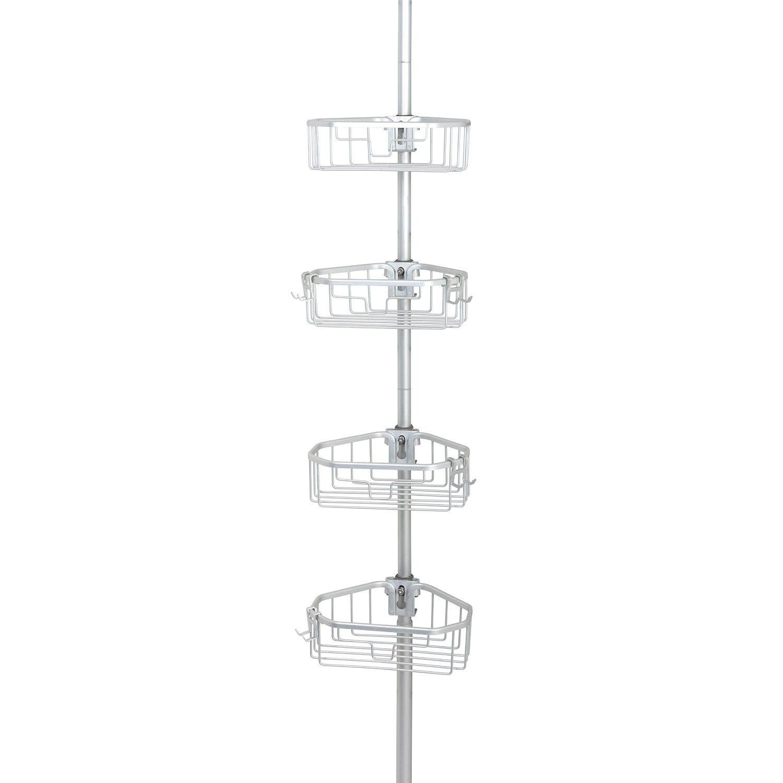 Zenna Home NeverRust™ Aluminum Rustproof Tension Pole Corner Caddy ...