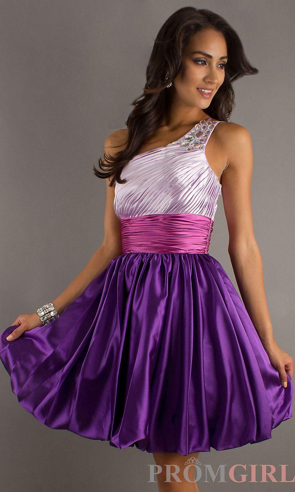Short One Shoulder Prom Dresses, Teen Cocktail Dresses- PromGirl ...