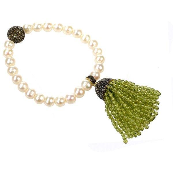 Latelita London Tassel Ball Necklace Peridot Gold JCZBWkkRGz