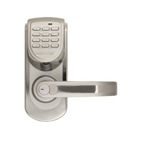 Keyless Digital Door Lock Right Hand 200 Code Program Silver ...