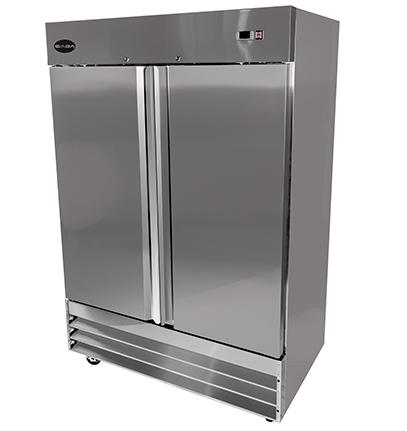 Saba S 47f Reach In Freezer Two Section Solid 2 Door 47 Cu Ft Erisequip Solid Doors Adjustable Shelving Upright Freezer