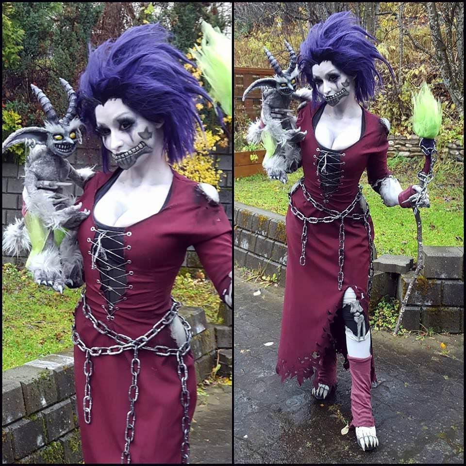 Friend dressed as Undead Warlock for Halloween (Mirakan)
