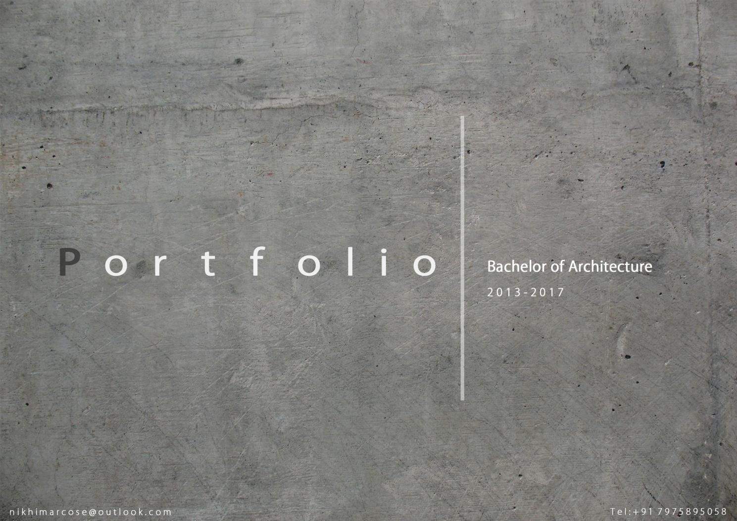 Architecture Portfolio Portfolio cover design