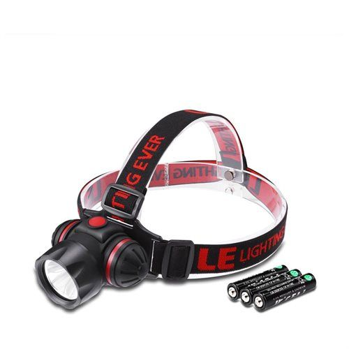 LE LED Headlamp,3 Light Mode Options,3 AAA Batteries Included, for Camping,Running,Hunting,Reading
