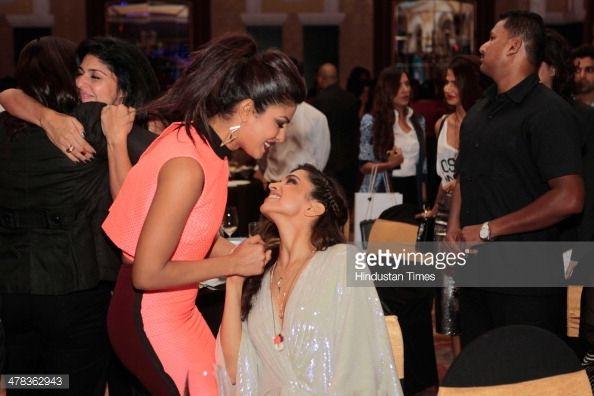 Bollywood Actors Priyanka Chopra And Deepika Padukone During The Deepika Padukone Bollywood Actors Priyanka Chopra