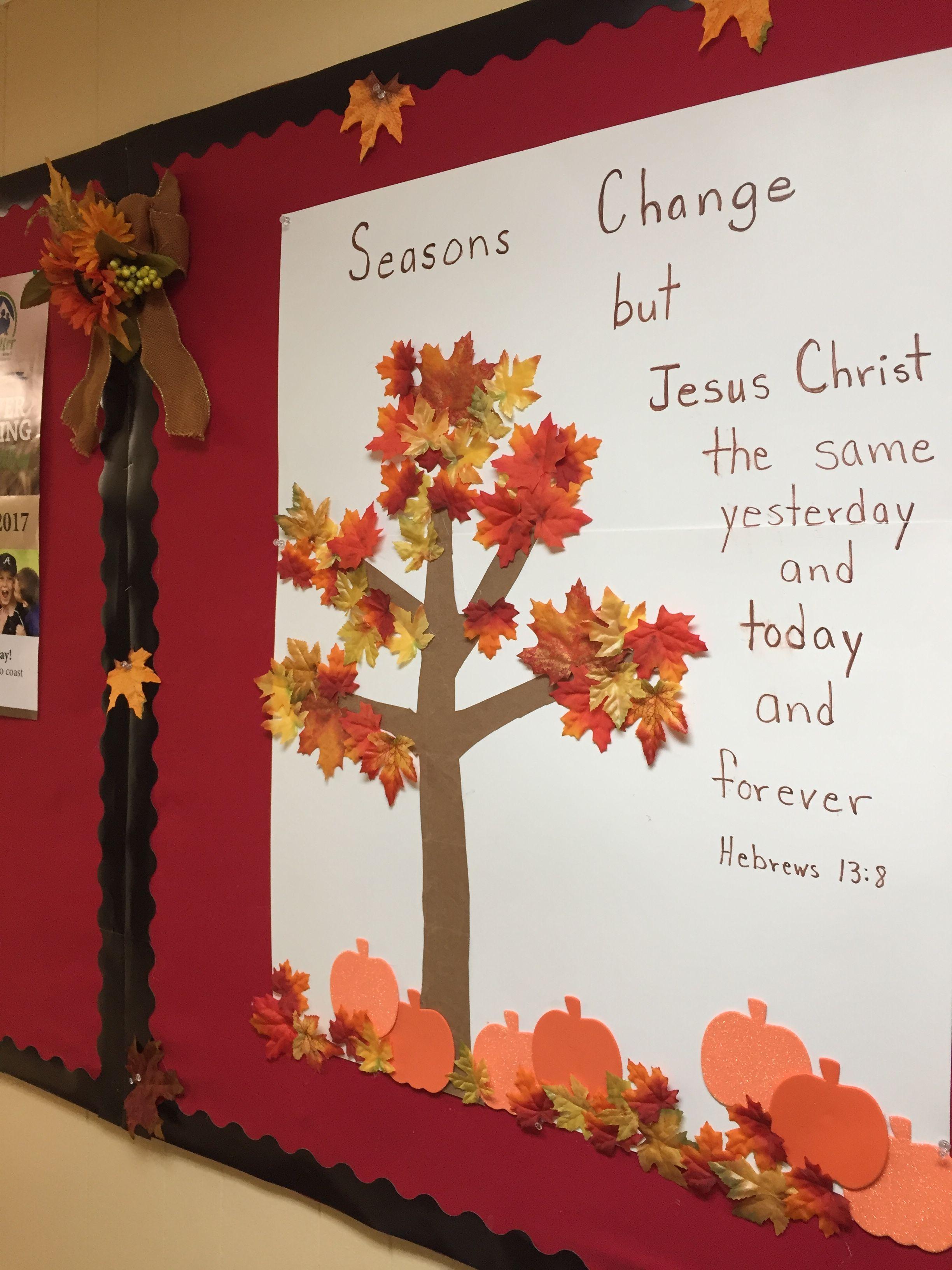 Pin By Beth Howell On Bulletin Boards Fall Church Christian Christmas