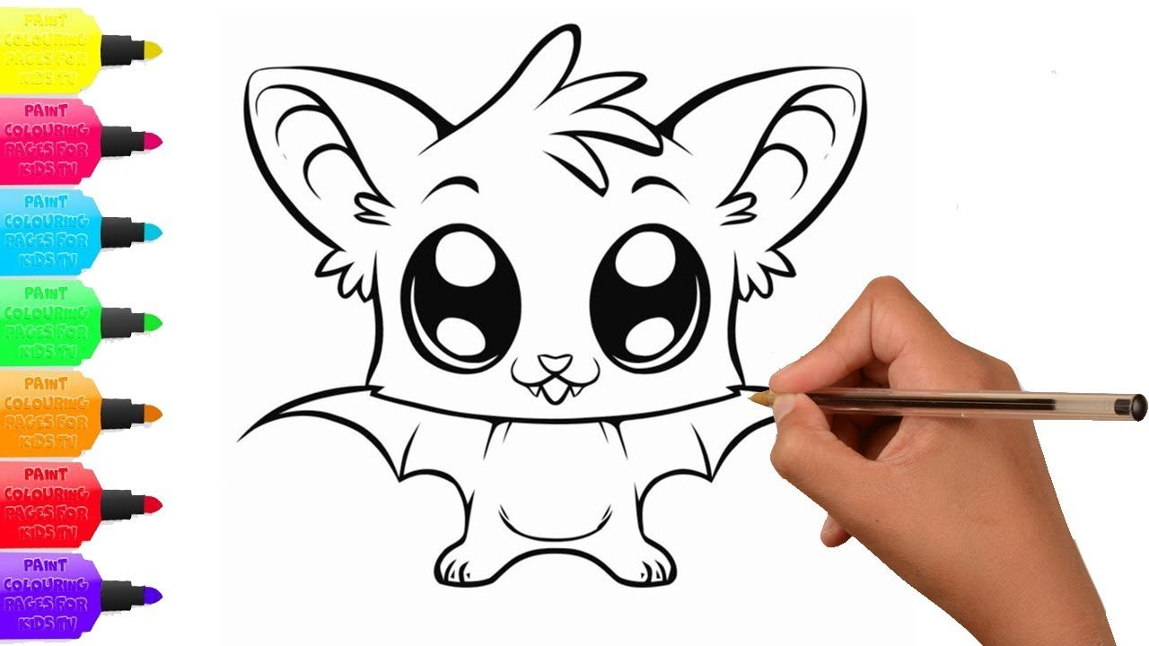 How To Draw Bat And Coloring Page Niedliche Zeichnungen