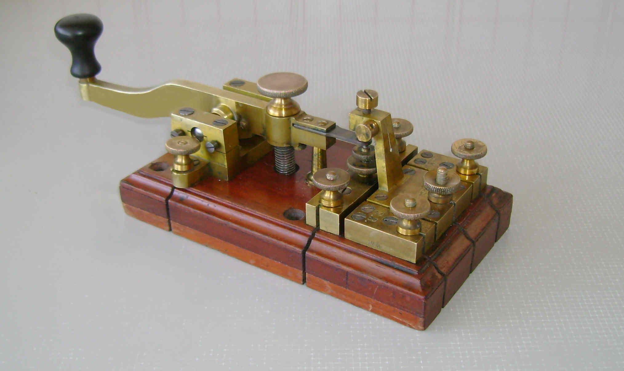 An Ericsson Morse key  | Radio Head | Morse code, Morse code tattoo