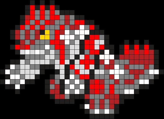 383 Groudon Perler Bead Pattern Bead Sprite Pokemon