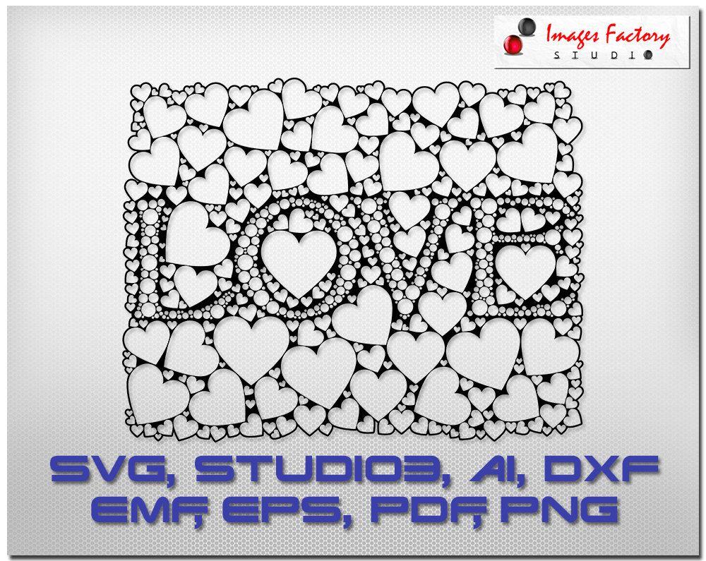 Love hearts cuttable cricut design space by imagefactorystudio