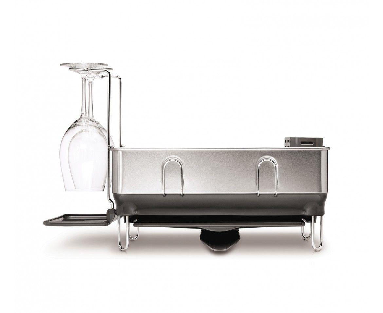 Best Simplehuman Grey Steel Frame Dishrack W Wine Glass 400 x 300