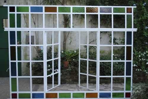 Ventana en hierro dos hojas de abrir guarda a color for Puertas y ventanas de hierro antiguas