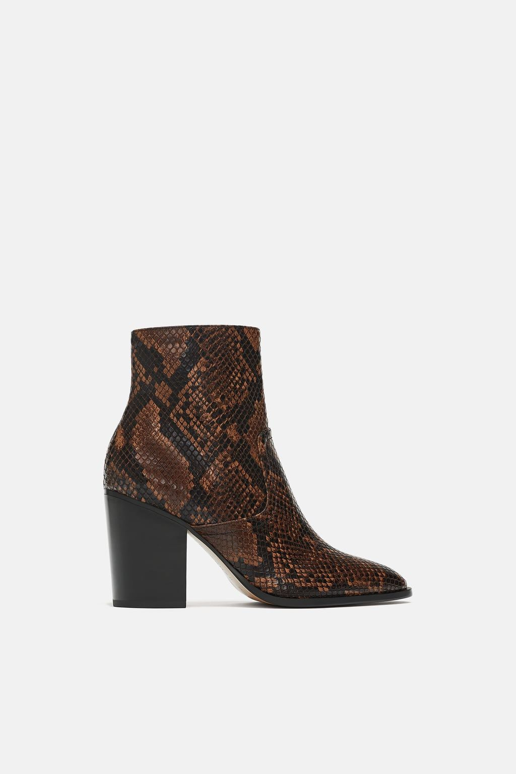77c9a8e9 HEELED ANIMAL PRINT ANKLE BOOTS - Special prices-SHOES-WOMAN | ZARA United  States