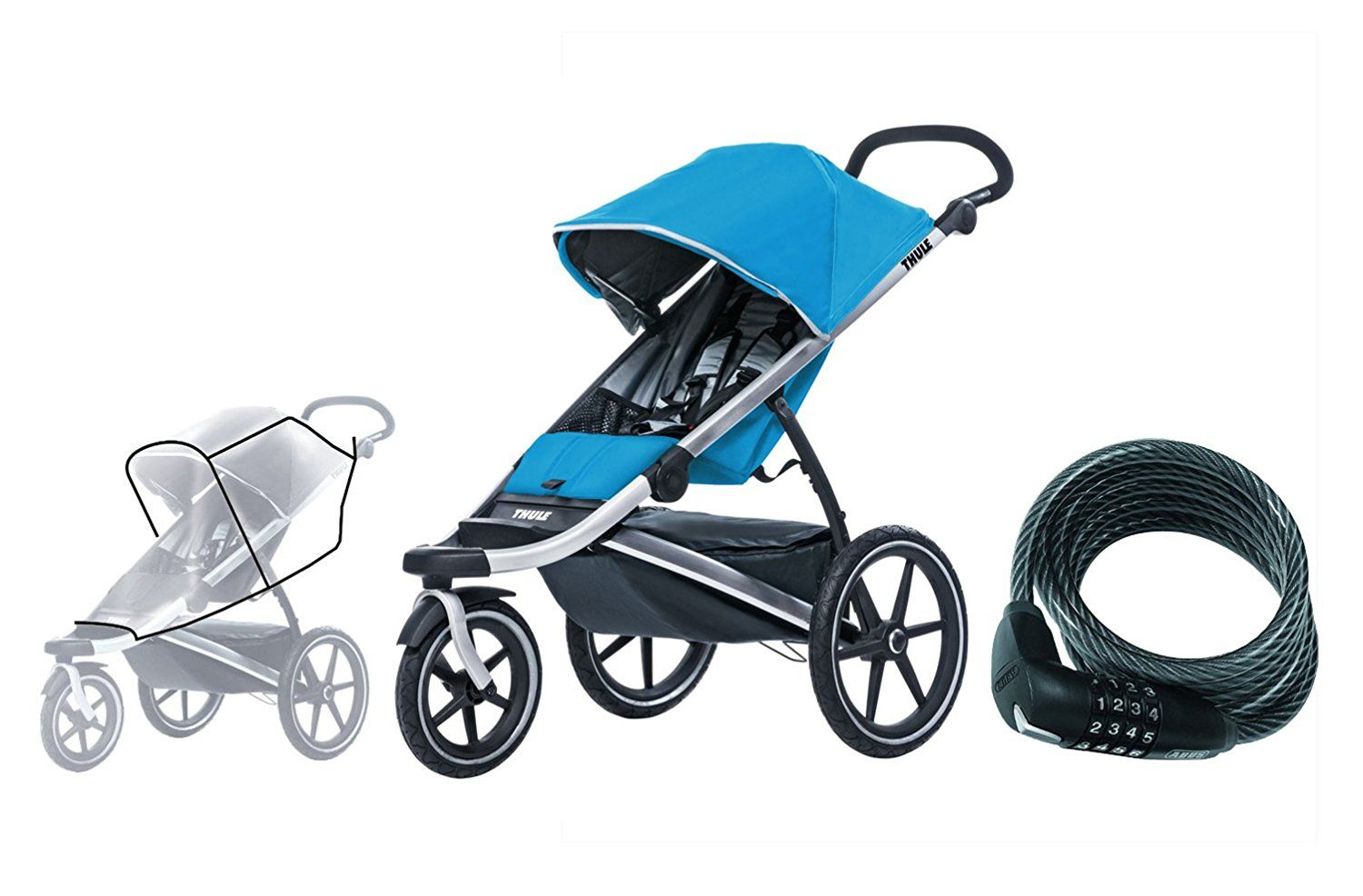Thule Urban Glide Sport Stroller With Glide Rain Cover And