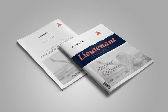 Lieutenant Magazine by Elite_Standard on @Graphicsauthor Templates