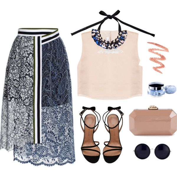A fashion look from September 2014 featuring Razan Alazzouni tops, Preen skirts and ALEXA WAGNER sandals. Browse and shop related looks.