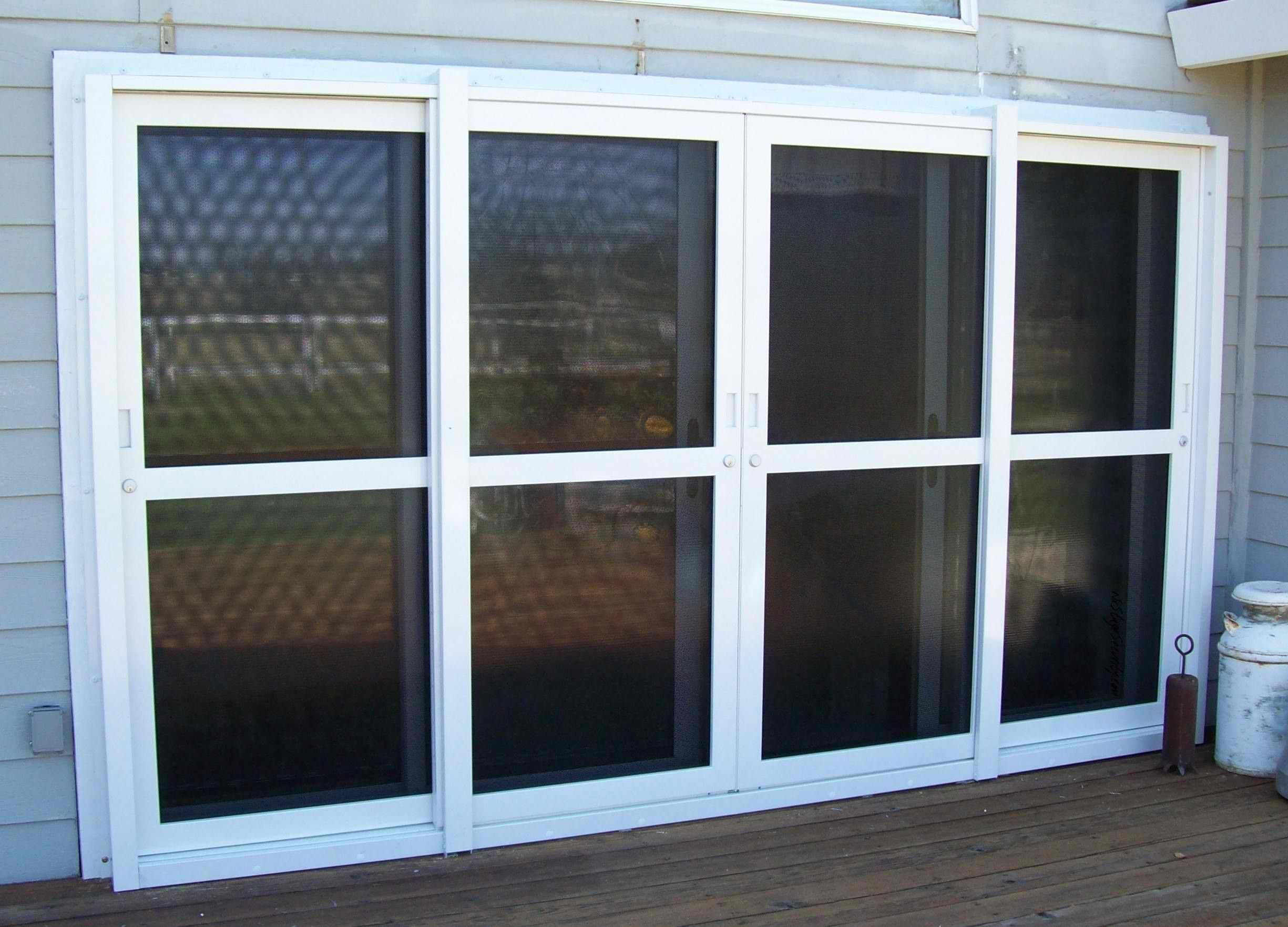 A Tinted Sliding Security Door Vinylpatiodoorsmilwaukee