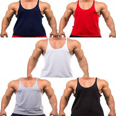 Mens plain bodybuilding gym #muscle #stringer vest y back #racerback tank top tee,  View more on the LINK: http://www.zeppy.io/product/gb/2/272072914139/