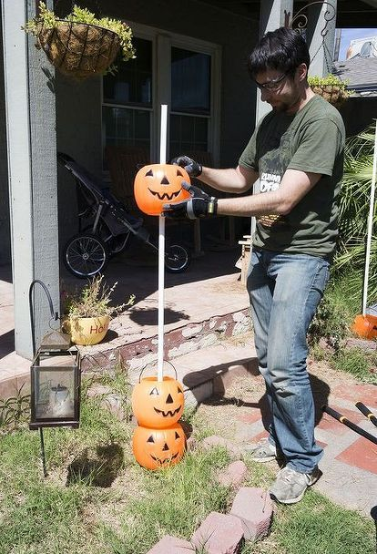 When we first saw his bucket full of plastic pumpkins, we weren\u0027t