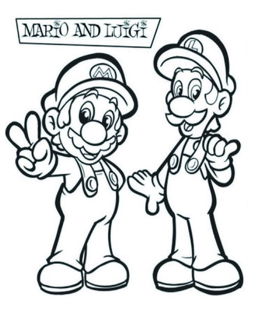Supermario E Luigi Da Colorare.Disegni Da Stampare E Colorare Mario Kart Pagine Da Colorare