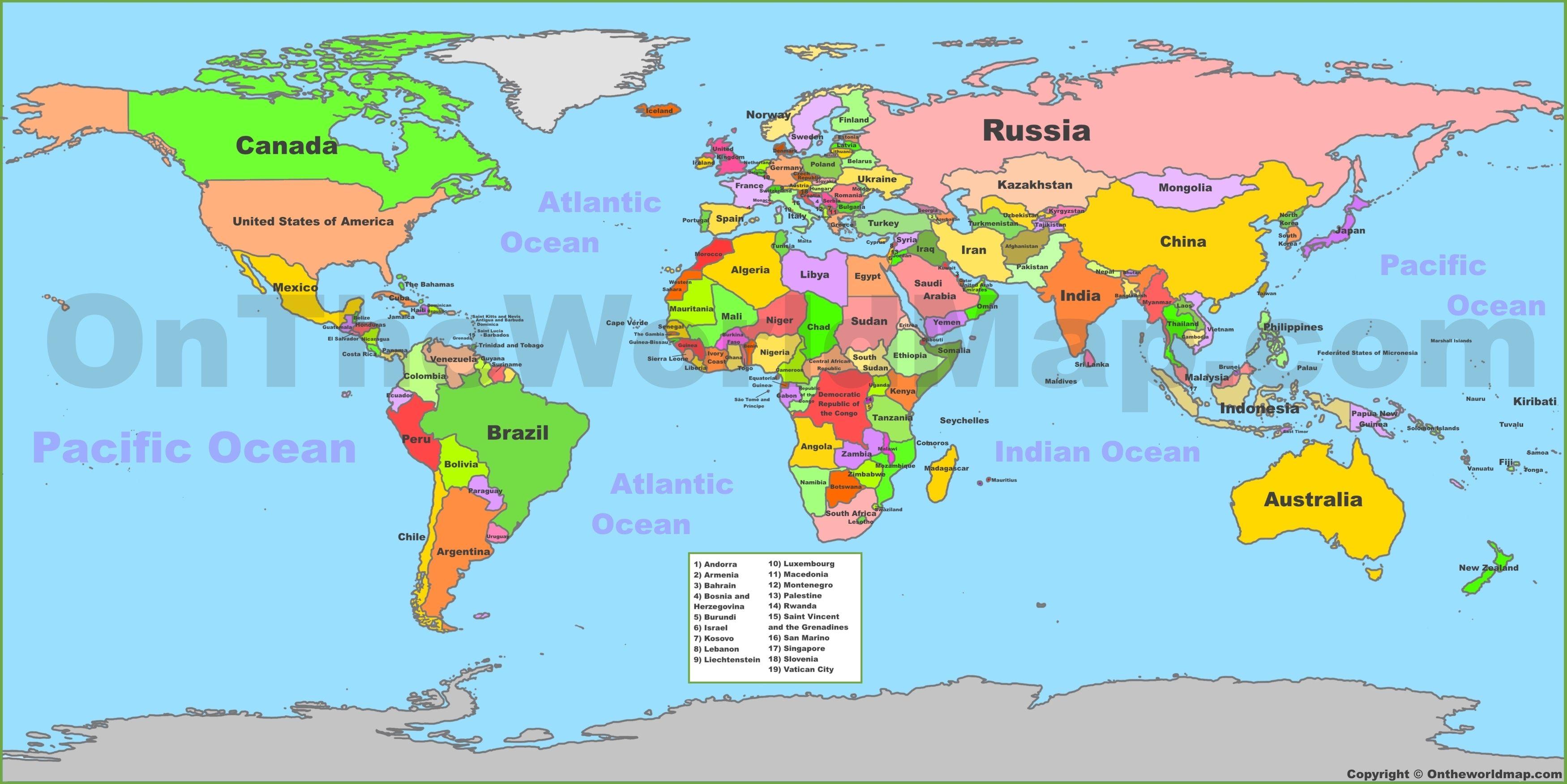 Comprehensive World Map With Kenya Highlighted Uae