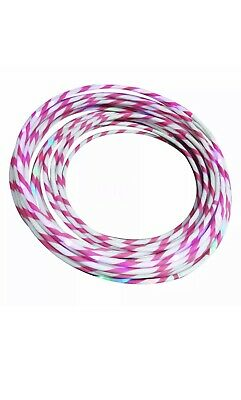 Here We Have The Pink And White Striped Weighted Hula Hoop For Adults And Kids The Hula Hoop Is Made From Hdpe Pink And White Stripes Weighted Hula Hoops Pink