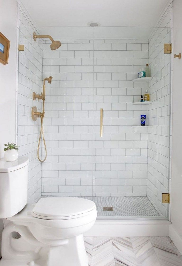 75+ Beautiful Small Bathroom Shower Remodel Ideas images