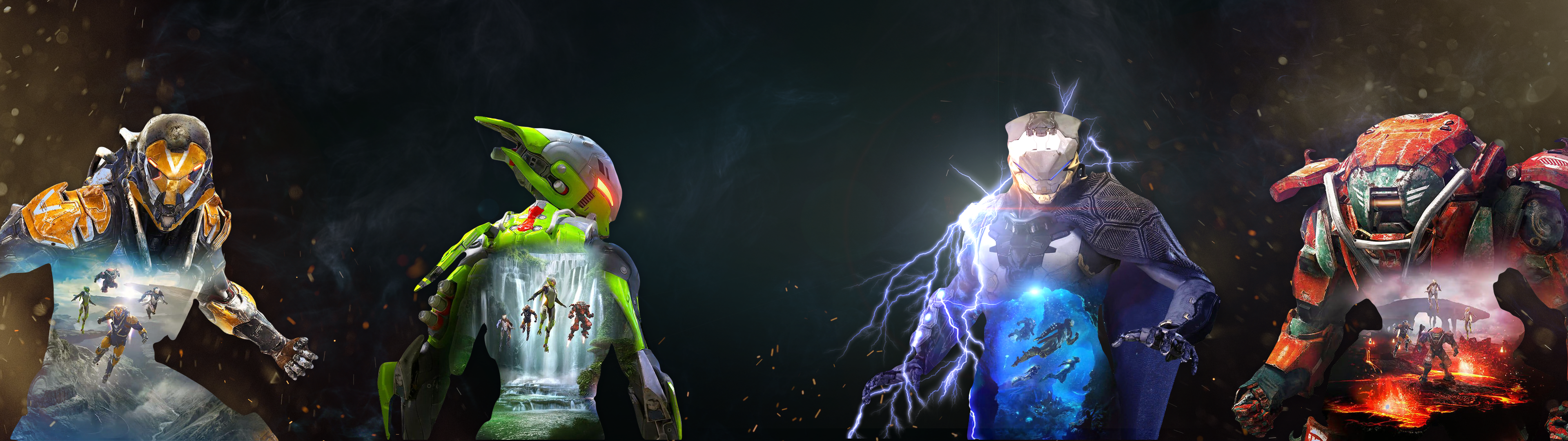 Anthem Javelins Dual Monitor Wallpaper 3840x1080 Character