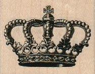 Crown rubber stamp tiara  queen hat no6725 craft scrapbook supplies #queenshats