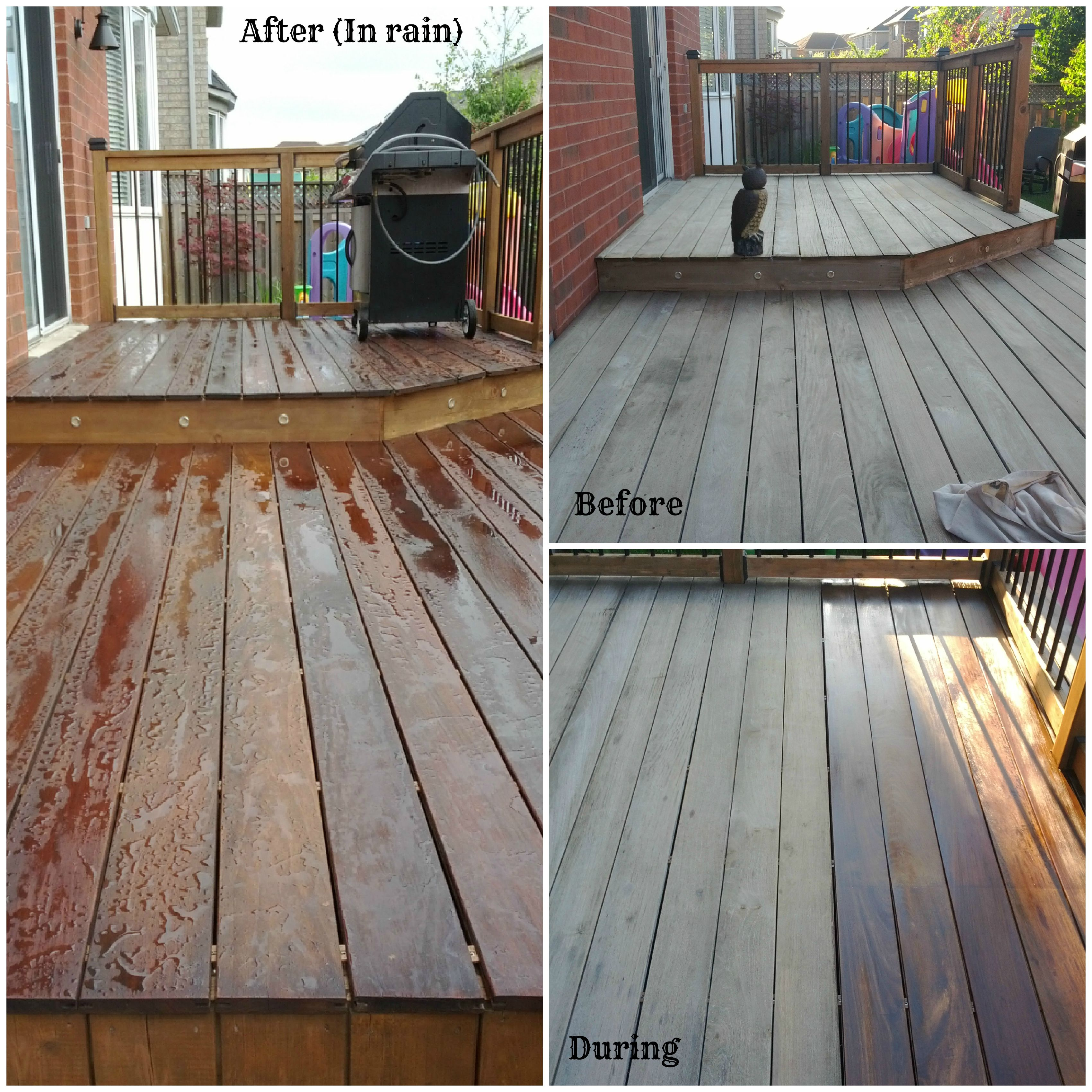 IPE Deck Staining. This wonderful hardwood is brought back