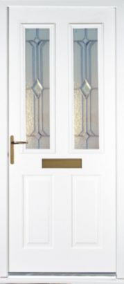 Great Bu0026Q Kingston GRP Front Door Set White RH (H)2055 X (W)