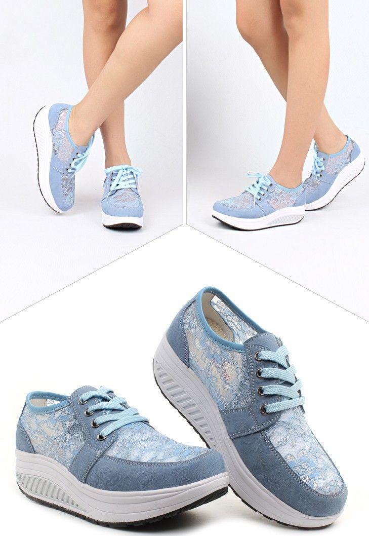 292ac1cf497ae Women s  blue leather rocker bottom  sneakers sport shoes