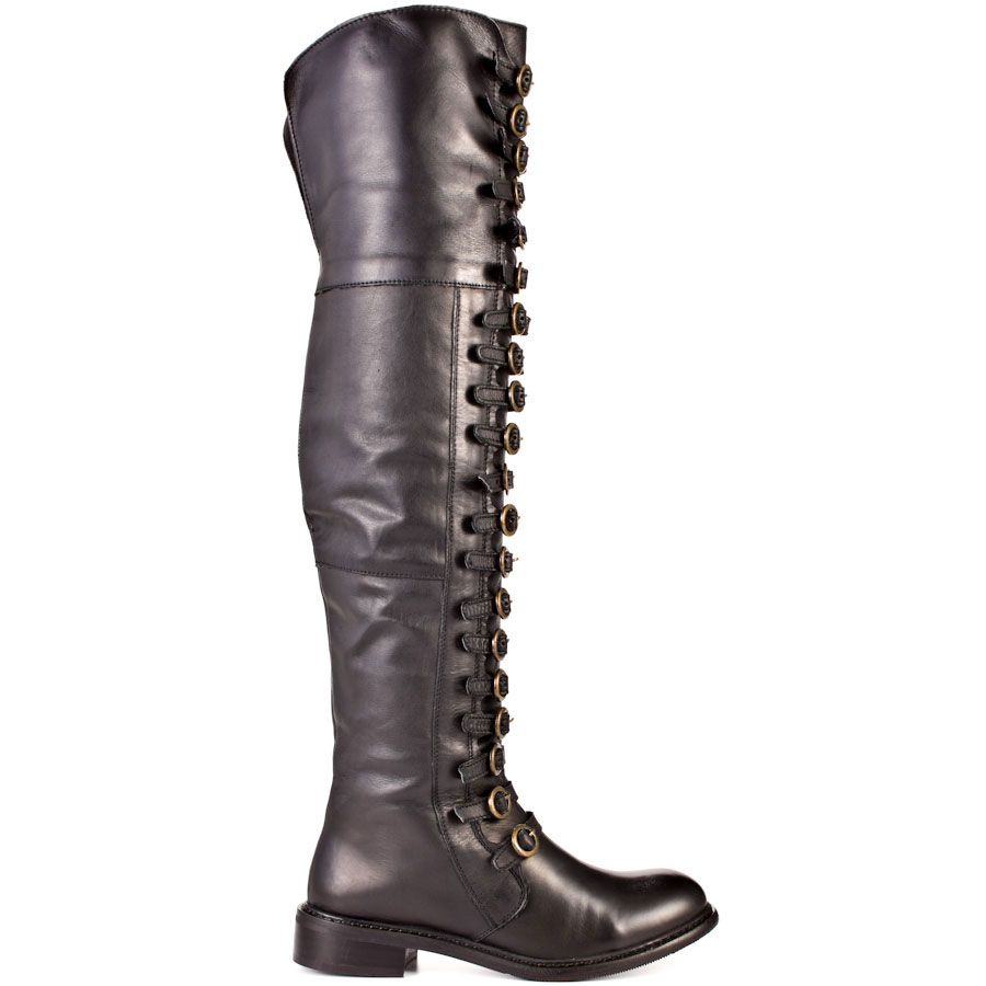 Boots I Love #boots #heels #fall #autumn #color #love True Fit - Black Leather                      Luichiny