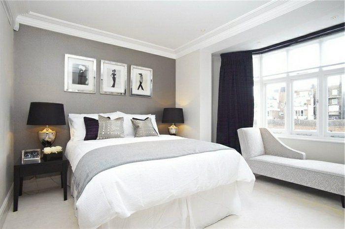 Bildergebnis Fur Farbige Wand Mit Weissem Rand Bed Room