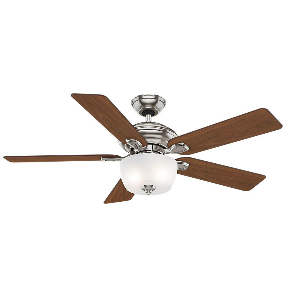 Casablanca Utopian 52 In Indoor Outdoor Brushed Cocoa Bronze Ceiling Fan With 4 Speed Wall Mount Control 54039 The Home Depot Ceiling Fan Brushed Nickel Ceiling Fan Bronze Ceiling Fan