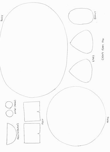 template for pig ears - pig craft template second grade pinterest pig crafts