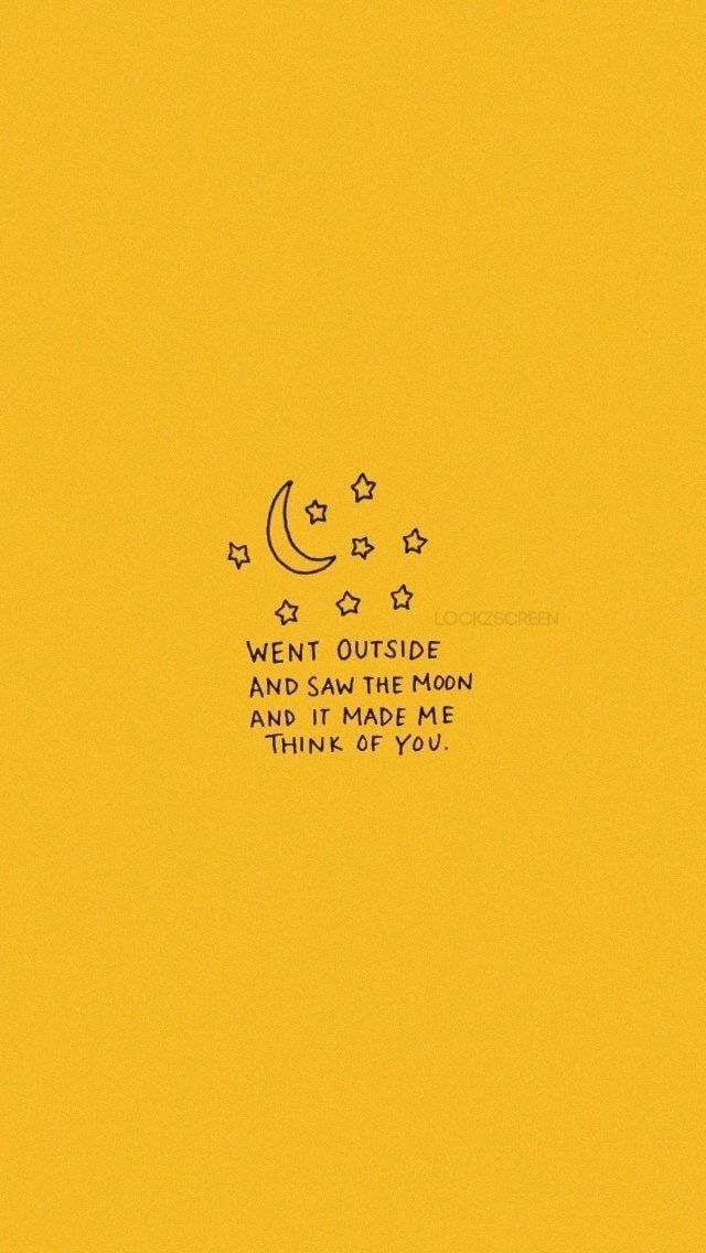 quotes, yellow, and moon image Yellow quotes, Quote