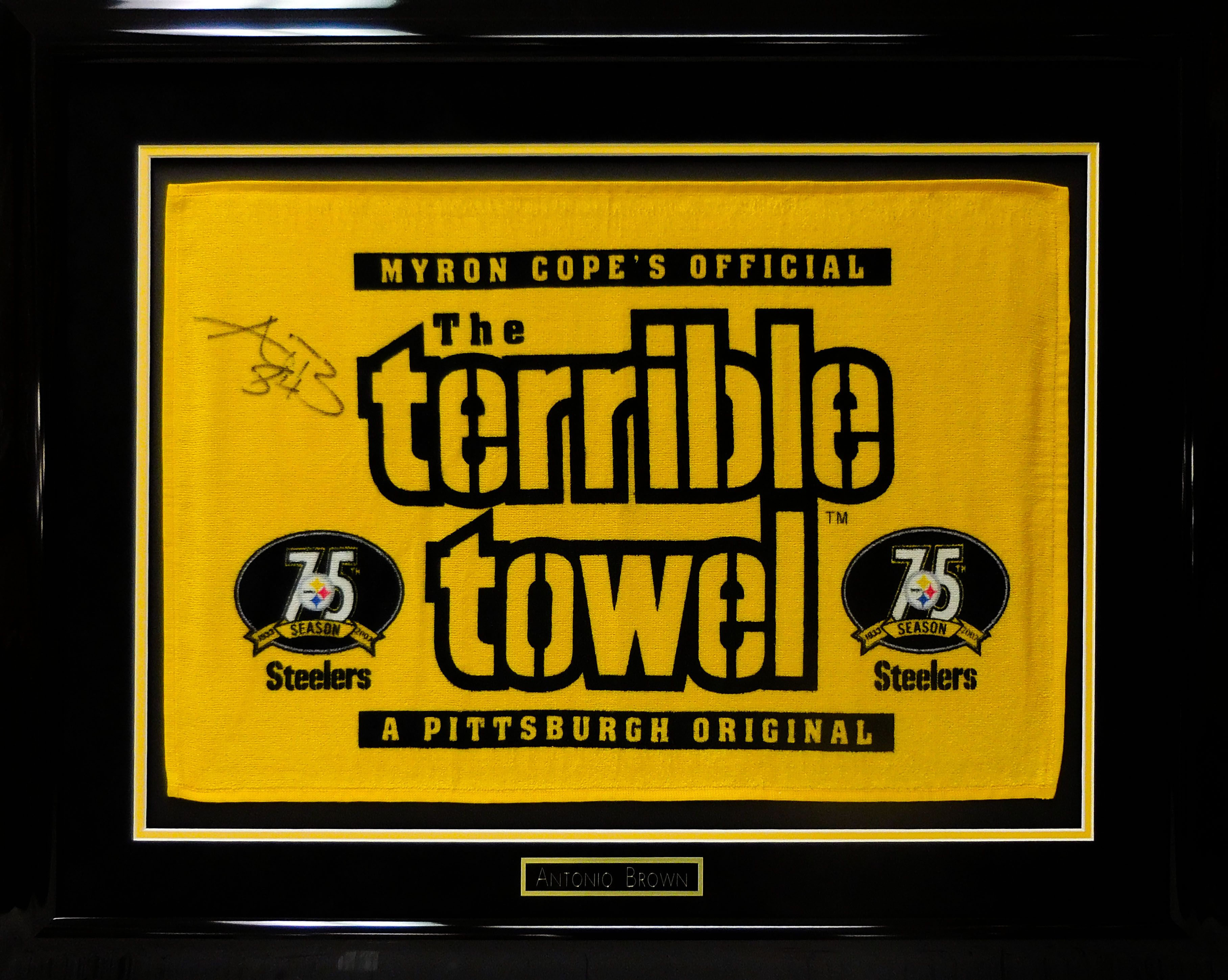 The Terrible Towel Signed By Antonio Brown Pittsburgh