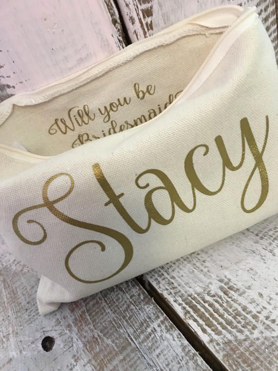 Cosmetic Case Bridesmaid Proposal Gift Thank You Gifts Under 10 Wedding Personalized Make Up